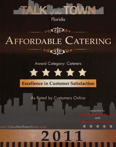 Talk Of The Town Award for Affordable Catering